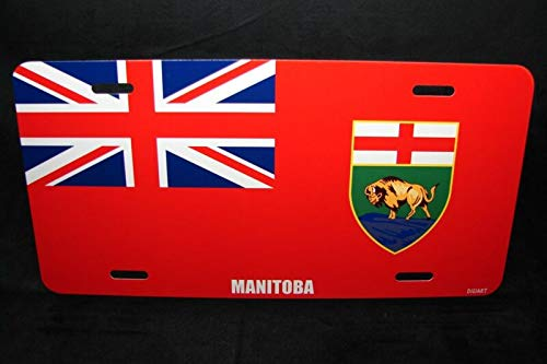 Manitoba Flag Car License Plate Auto Car Novelty Accessories License Plate Art
