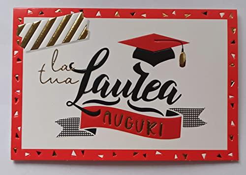 Biglietto Auguri Laurea Portasoldi con Busta 17 x 11,5 cm Bianco