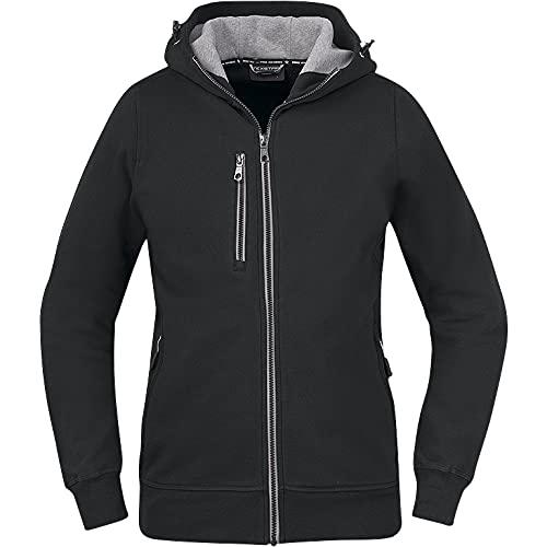 Texstar WC09 - Cárdigan con capucha para mujer (talla XS), color negro