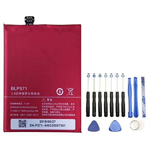 Batería BLP571 para OnePlus One/OnePlus 1 + kit de herramientas 13 piezas – 3100 mAh