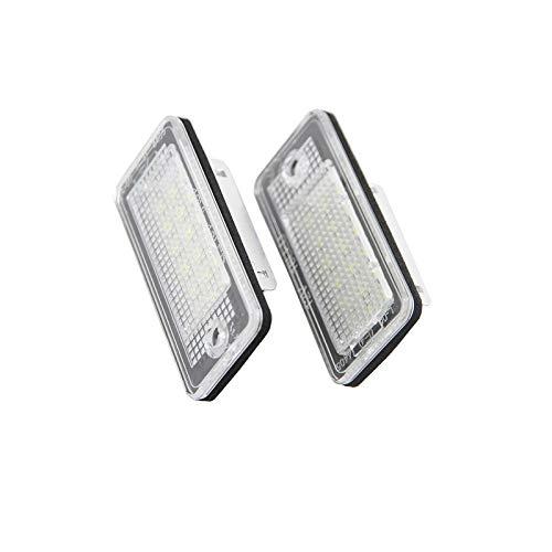 Luces De MatríCula Lámpara de placa de la placa de la placa Lámpara de placa para Audi A3 A4 S4 RS4 B6 B7 A6 RS6 S6 C6 A5 S5 2D CABRIO Q7 A8 S8 RS4 AVANT Luces De Placa