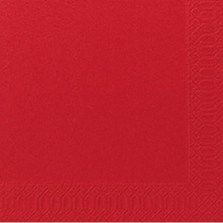Duni Servietten 3lagig Tissue Uni Rot 33 X 33 Cm 250 Stück Küche Haushalt