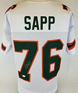 Warren Sapp Autographed Signed Miami Hurricanes Jersey (JSA COA) Buccaneers 7xpro Bowl D.t.