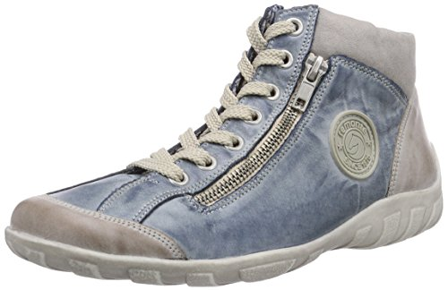 Remonte Damen R3474 High-top, Blau (steel/royal/Grey/14), 42