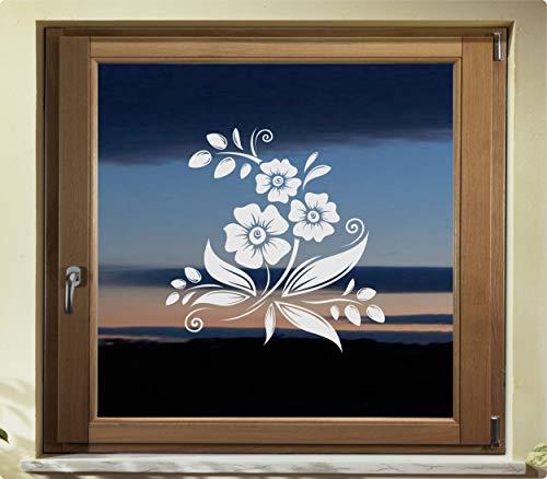 rs-interhandel® Folie Fenster Tattoo Aufkleber, kein Sichtschutz, Fensterfolie Glasdekor Deko Window wasserfest selbstklebende Folie GD42