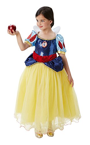 Princesas Disney - Disfraz de Blancanieves Premium para niña, infantil 5-6 años (Rubie's 620482-M)
