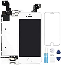 Tianfangjin Full Screen Replacement for iPhone SE iPhone 5s LCD Screen The Whole Display Assembly + Repair Tools (White)