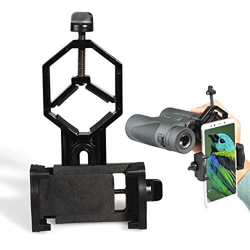 USCAMEL Supporto per Adattatore Universale per Cellulare - Binocolo Compatibile Cannocchiale per Telescopio Monoculare - Adatto a Quasi Tutti gli Smartphone Sul Mercato