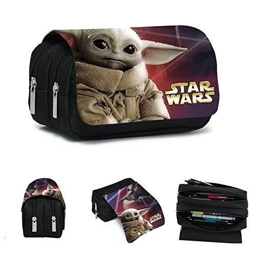 Caja De Papelería Star Wars Baby Yoda Bolsa De Papelería De Gran Capacidad para Adolescentes Y Niños con Niños Mandalorianos Regalos De Star Wars para Niños Niñas Y Adultos,B