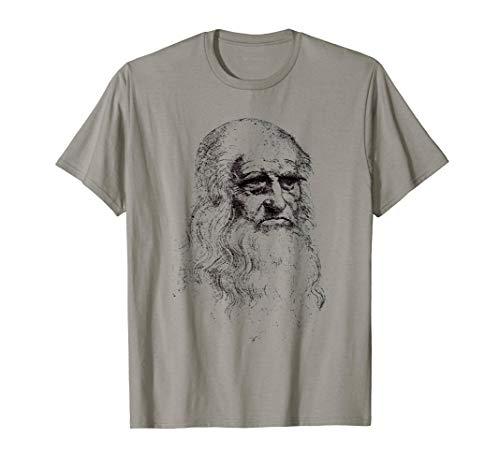 Leonardo Da Vinci Porträt Davinci Wissenschaft Kunst T-Shirt