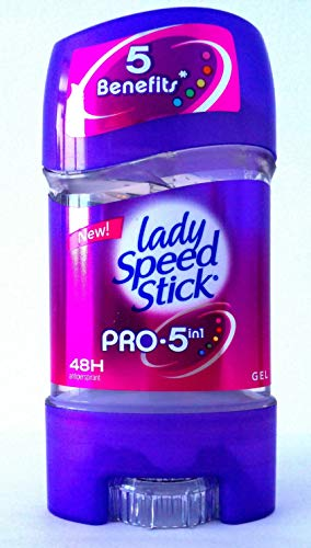 Pack of 3 Lady Speed Stick Gel Pro 5 in 1, 48H Anti-Perspirant Deodorant Gel