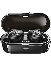 Aclouddatee 2020 Bluetooth 5.0, cuffie stereo con microfono wireless, mini auricolari wireless con cuffie e custodia di ricarica portatile per iOS Android PC (XGB-B5)