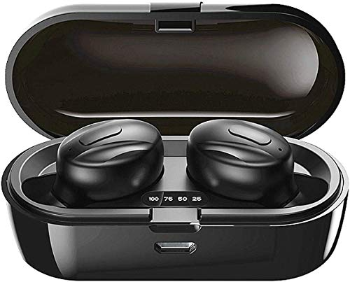 Bluetooth-Kopfhörer, Aclouddatee 2020 Bluetooth 5.0 Wireless-Kopfhörer Stereo-Soundmikrofon Mini-Wireless-Ohrhörer mit Kopfhörern und tragbarem Ladekoffer für iOS Android PC (XGB-B7)