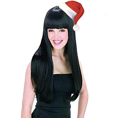 Perruque Longue Femme, WADEO Perruque Femme 360 Naturelle Brésilien Lisse Cheveux Perruque - Environ 60cm …