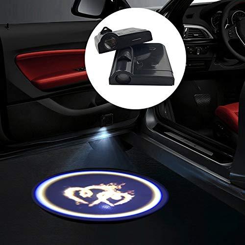 ZFDM 1pc Universal Wireless LED Puerta de Coche Bienvenido Láser Proyector Logo Luces Sombra Batman Decoración Automóvil Interior Lámpara (Color : 17)
