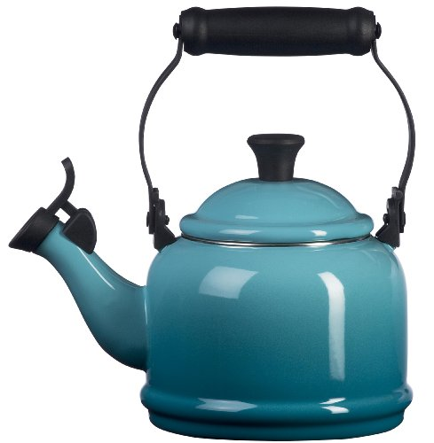 Le Creuset Enamel On Steel Demi Tea Kettle, 1.25 qt., Caribbean