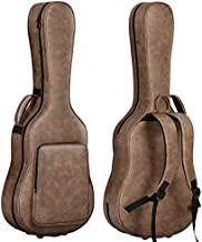 CAHAYA Acoustic Guitar Case Waterproof Hardshell 0.8in Thick Padding Waterproof PU Design Easy Cleaning with 3 Pockets and Storage Box Inside Guitar Hard Case for 40 inch Acoustic Guitar
