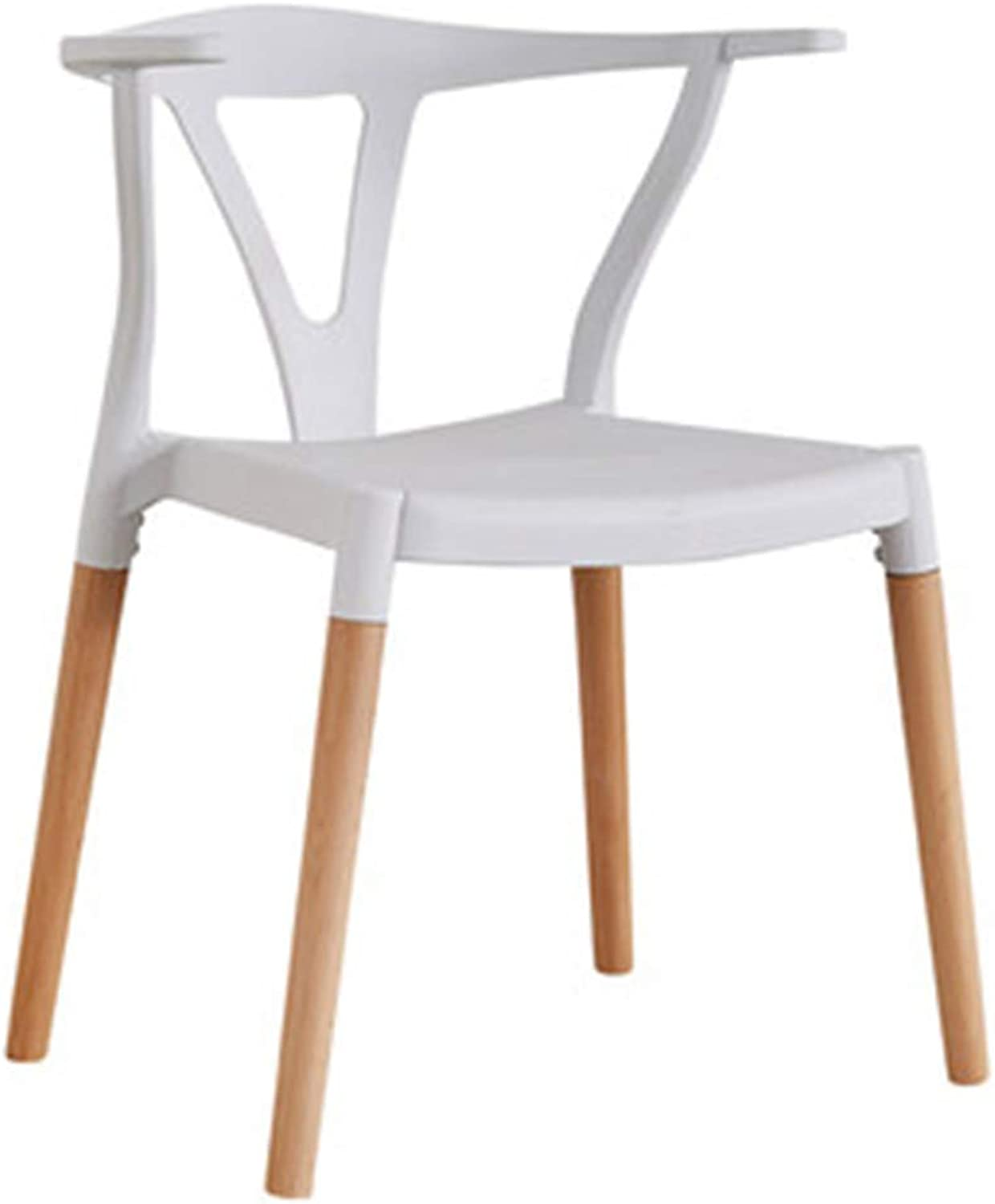 Chair Chair Modern Simplicity Easy Assembly Solid Wood Chair Legs Restaurant Study Room (color   White)