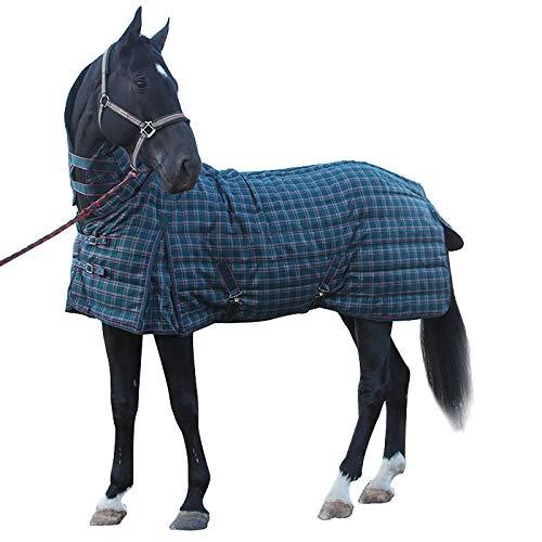 MaJu Winterdecke Outdoordecke Pferd Rugbe Protect Highneck Pferdedecke Halsansatz(Size:145cm)