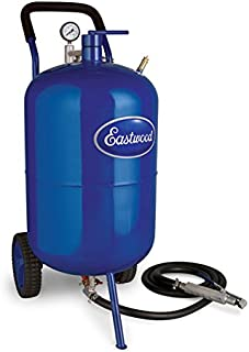 Eastwood 200 Lbs Portable Air Pressure Abrasive Blaster Tank with Blast Hose & Pressure Gauge to Remove Rust and Paint Faster