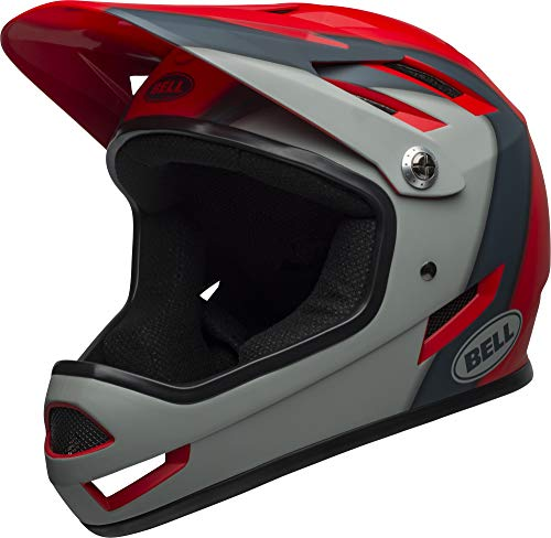 BELL Sanction Casco Integral MTB, Unisex Adulto, Presencias Matte Crim, Medium/55-57 cm
