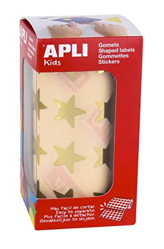 Apli Kids 12044 Rouleau de 1416 gommettes étoiles Or