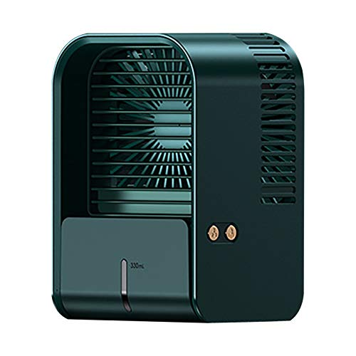 Zarupeng Ventilatore 4 in 1 silenzioso, ventilatore personale a 3 livelli, con USB, a basso consumo di energia, mini climatizzatore piccolo per stanza, ufficio, casa, festa del papà a S