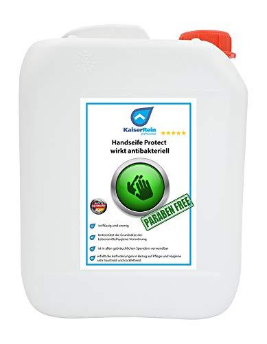 Kaiserrein Handseife Protect 5 L wirkt antibakteriell Hygienische hautschonende Handseife I Flüssigseife Nachfüllbeutel I Seife flüssig nachfüllpack I hautfreundlich rückfettend