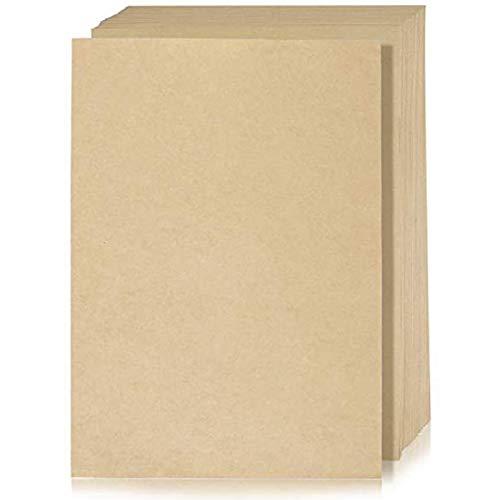 WENTS 100 A4 Blatt Kraftpapier - 80g Bastel-Bogen in braun - Bastelpapier Naturkarton - hochwertige Qualität Bedruckbar