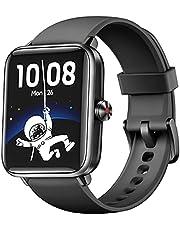 Dirrelo Smartwatch, 1,55 inch Touch Screen Fitness Tracker, Zuurstofsaturatie, Hartslag, Slaapmonitor, Stappenteller, IP68 Waterdicht Sporthorloge voor Dames en Heren, iOS Android Telefoons, Zwart