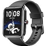 Dirrelo Montre Connectée Homme Femmes Enfant, Smartwatch GPS Sport Podometre Cardiofrequencemètre, Étanche IP68 Natation Running Montre Intelligente Compatible avec iPhone Android Huawei Samsung, Noir