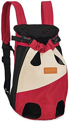 Mochila transportadora para perros pequeños, medianos, gatos, mochila ajustable en el pecho...