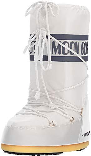 MOON BOOT Nylon, Botas de Nieve, Blanco White 006, 35 EU