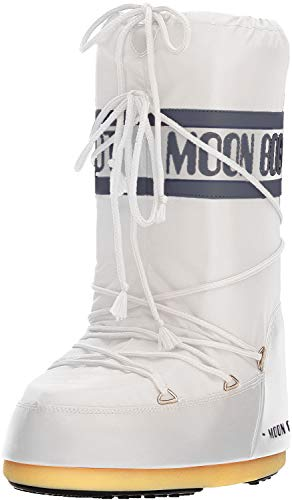 MOON BOOT Nylon, Botas de Nieve Unisex, Blanco White 006, 39 EU