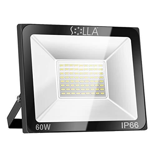 SOLLA Faretto a LED da 60W, IP66 Resistente all'acqua LED esterno, Luce Bianca 6000K, 4800LM