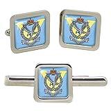 Giftshop UK 5 Regiment Armee Luftwaffe, Britische Armee Quadratisch Manschettenknöpfe und Krawatte Clip Set