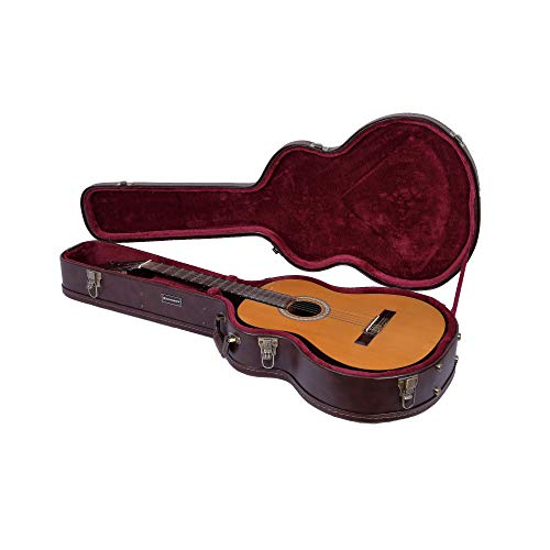 Crossrock CRW600OMBR OM/000 Guitar Case, Multi-layer Wood Case, Arch-top Style, Vintage Brown
