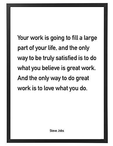 PicsonPAPER poster 50 cm x 70 cm, je werk is Going to Fill. met zwarte fotolijst, startup motivatie, Quote, motivatieposter met lijst, Startup Quote, Citaat Steve Jobs