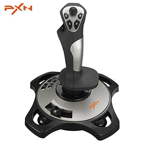 PXN Pro 2113 Juego Simulador de Joystick Controlador de Juego Profesional con Cable 4 Ejes Vuelo Apoyo para Windows Xp/7/8/10