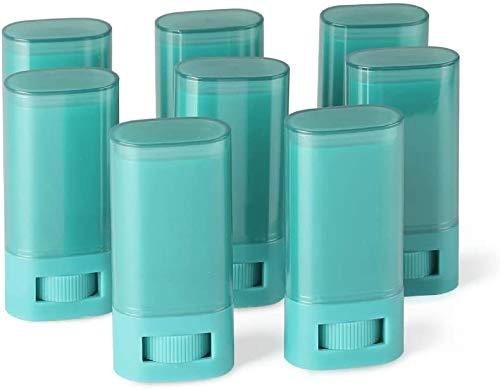Contenedor de desodorante de plástico vacío de 8 piezas, 20 ml, 0,7 oz, soporte para tubos de desodorante giratorio para bricolaje, barra de labios, bálsamo, barra de loción, lápiz de labios y sin BPA