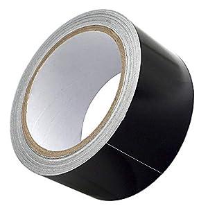 Akuoly – Cinta adhesiva de aluminio para protección térmica, 50 mm de ancho, 20 m de largo, color negro