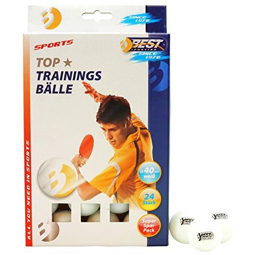 Best Sporting Tischtennisbälle, Qualität: 1 Stern, 24 Stück, Farbe: Weiß