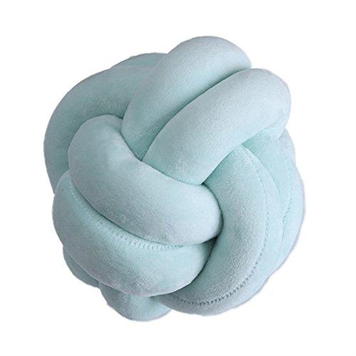 Nunubee Knot Pillow Ball Cojín de Felpa Juguetes Sofá Cojín Decoración para el hogar y Regalo para niños φ18cm / φ7.1 Pulgadas Green-2line-S