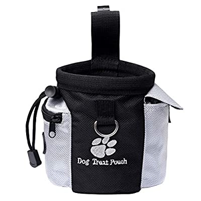 nuoshen Dog Treat Bag, Pet Training Pouch Puppy Walking Pouch With Trash Bag Dispenser and Adjustable Strip for Pet Stuff