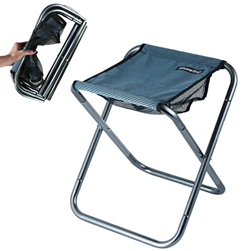 NA Kleiner tragbarer Klapphocker,Mini-Klappstühle für Camping im Freien, zusammenklappbarer Campinghocker Leichtgewicht für Camping,Angeln,Picknick,Reisen und Wandern