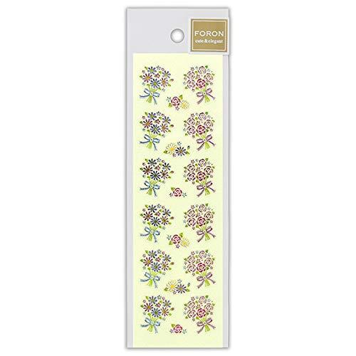 シール ビジュ ブーケA 5114195 (A-11) NB フラワー 花束 高級感のある輝きと、細かい盛り上げが美しいシール