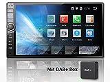 Tristan Auron BT2D7020A Autoradio + DAB+ Box, Android 9.0, 7'' Touchscreen Bildschirm, GPS Navi, Bluetooth Freisprecheinrichtung, Quad Core, USB/SD, OBD 2, DAB, 2 DIN