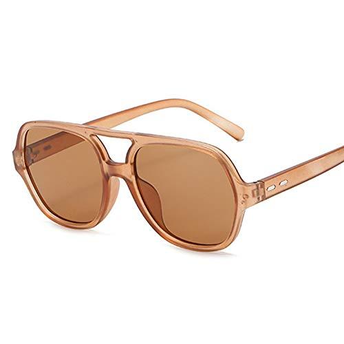 SXRAI Gafas de Sol de Gran tamaño Mujeres Hombres Moda Gafas de Sol Amarillo,C4