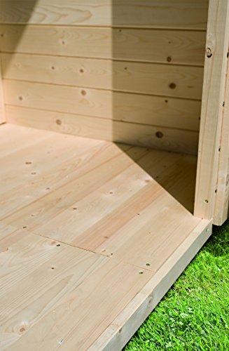 Fußboden für Gartenhaus mit Sockelmaß 150 x 153 cm