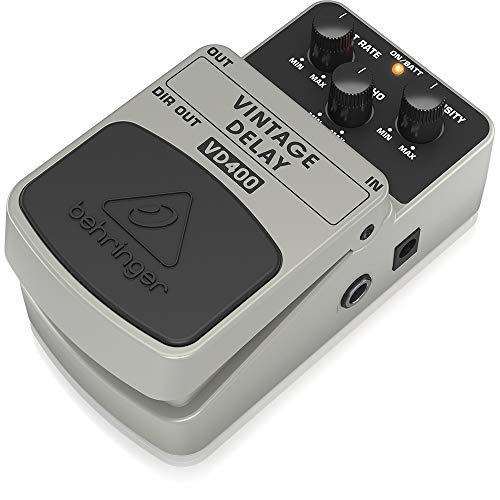 Behringer VD400 Vintage Analog Delay Effects Pedal,White